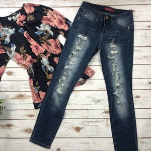 YMI Jeans | Skinny Distressed Jeans